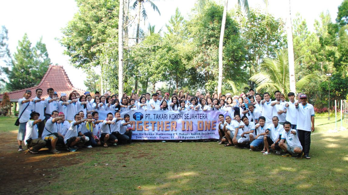 "Employee's Gathering PT. TAKARI KOKOH SEJAHTERA 2015 with theme """"TOGETHER IN ONE"""" at Jambuluwuk, Bogor on 15 – 16 Agustus 2015"